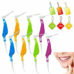 2017 colorful 8 Pieces 0.7mm Dental Oral Interdental Floss B