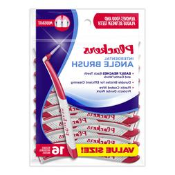 6 PACKS of Plackers Angle Interdental Brushes - 16pc/Bag